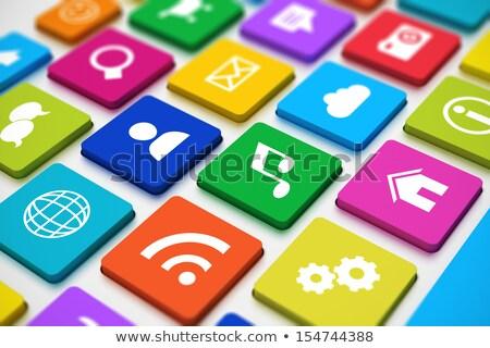Gibi klavye anahtar beyaz düğme el Stok fotoğraf © tashatuvango