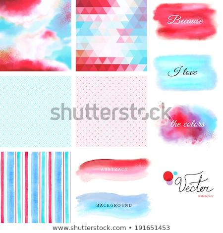 Szett öt színes ecset bannerek víz Stock fotó © SArts