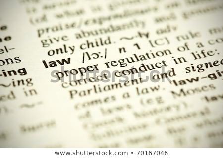 Dicionário definição palavra lei pequeno Foto stock © ivelin