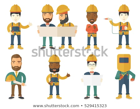 builder carpenter cartoon stock photo © krisdog