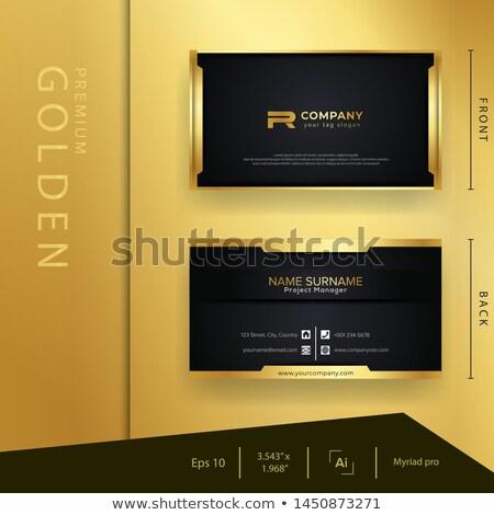 Fekete arany prémium szalag dekoráció mandala Stock fotó © SArts