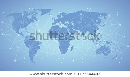 Térkép világ hálózat kontinensek Föld üzlet Stock fotó © popaukropa