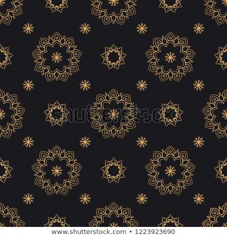 Luxus meghívó virágmintás prémium terv keret Stock fotó © SArts