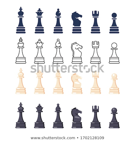 Vector illustration Chess figures Stock photo © orson