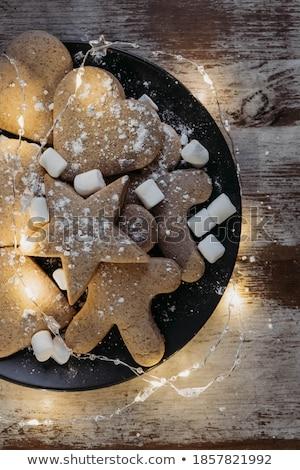 galletas · blanco · placa · horizontal · imagen - foto stock © fotogal