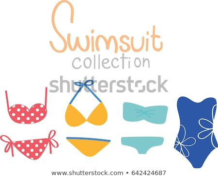 swimsuit design set vector fashion bikini summer beach clothing underwear female stylish swimwear stock photo © pikepicture