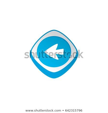 Seta cursor cor aplicativo ícone Foto stock © vector1st