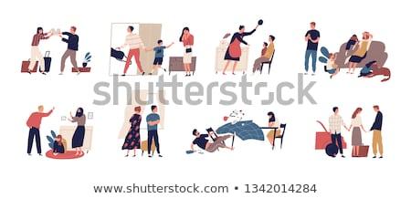 angry man abusing woman Stock photo © dolgachov