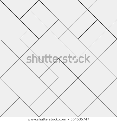 Stock photo: Geometric thin line black background. Simple graphic print. Vector modern minimalistic style