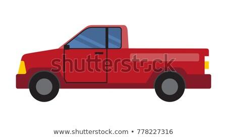 ストックフォト: 二人 · ポスター · 赤 · 車 · 窓 · ドア
