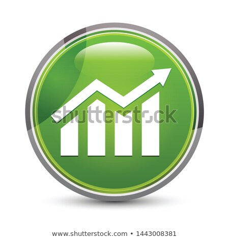 Green round button with up arrow symbol Stock photo © studioworkstock