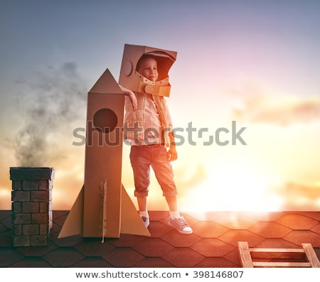 mother and child in a spaceship stock photo © studiostoks