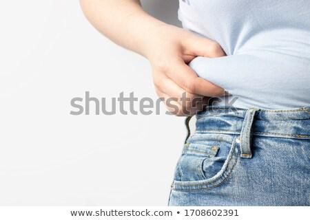 Torso starken passen isoliert weiß Mädchen Stock foto © hsfelix
