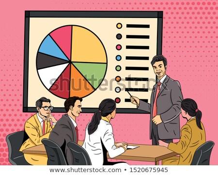 Empresário apresentação negócio homem reunião feminino Foto stock © IS2