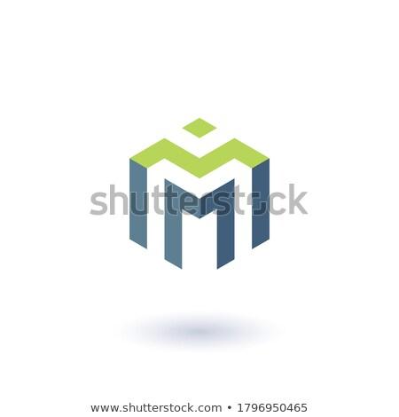 absztrakt · mértani · m · betű · logo · sablon · alkotóelem - stock fotó © taufik_al_amin