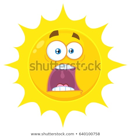 scared yellow star cartoon emoji face character with expressions a panic stock photo © hittoon