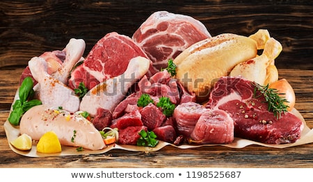 assorted raw meat for barbecue Stock photo © M-studio