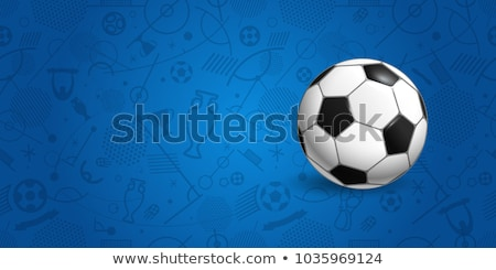 soccer tournament sports background with football Stock photo © SArts