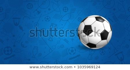 fútbol · anunciante · jugadores · aficionados · grunge · deporte - foto stock © sarts