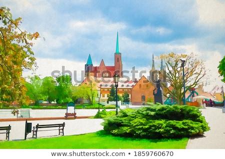 Cathédrale église baisser ville Voyage sable Photo stock © benkrut