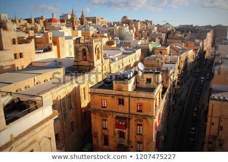 ver · cidade · velha · Malta · porto · edifícios · urbano - foto stock © virgin