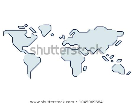 stippel · wereldkaart · Blauw · kaart · abstract · aarde - stockfoto © olehsvetiukha