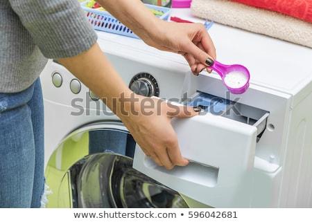 Niebieski pranie proszek pralka mycia dzień Zdjęcia stock © ssuaphoto