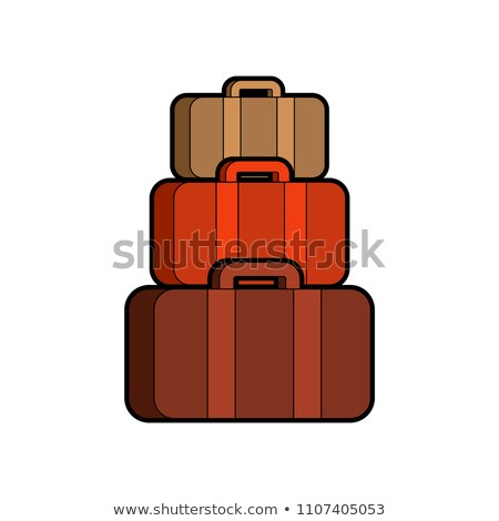 Pirámide maletas muchos bolsa aislado verano Foto stock © MaryValery