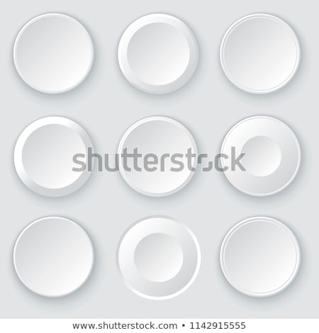 White circles. Abstract disk frames. Set of round buttons Stock photo © ESSL