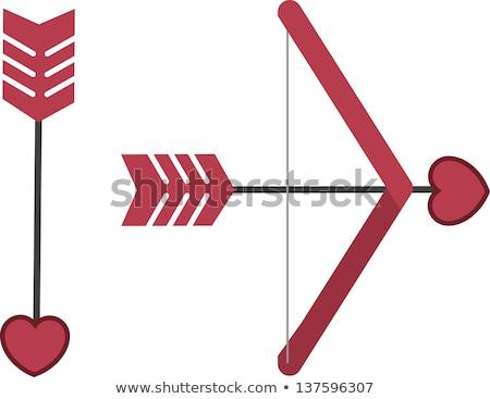 красный лук стрелка Cartoon икона вектора Сток-фото © cidepix