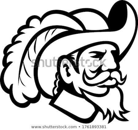 Cavalier Head Mascot Stock photo © patrimonio