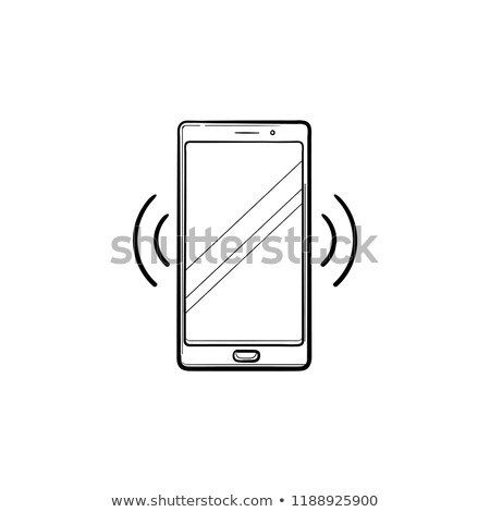 Smartphone vibrating hand drawn outline doodle icon. Stock photo © RAStudio
