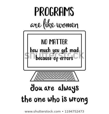 Divertente citare computer donne tipografia scherzo Foto d'archivio © balasoiu
