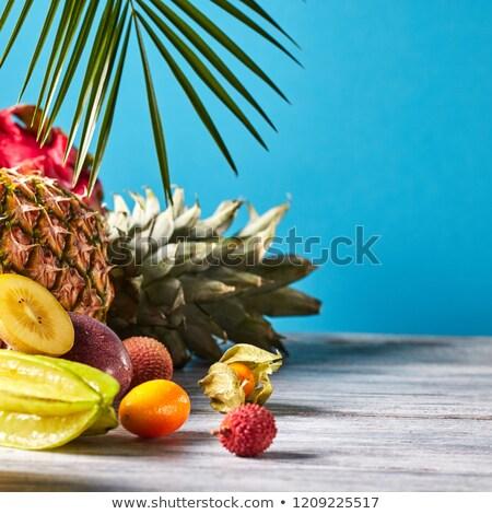 Сток-фото: экзотический · тропические · плодов · зрелый · ананаса · кокосового