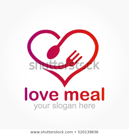 Stock photo: Food icon heart shape for health concept