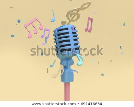 green microphone 3d stock photo © djmilic