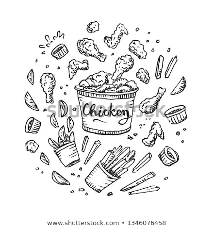 gezonde · sandwich · salade · illustratie · ontwerp · achtergrond - stockfoto © robuart