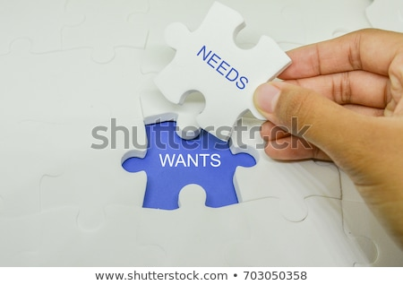 Wants Or Needs Arrows Concept Stock photo © ivelin