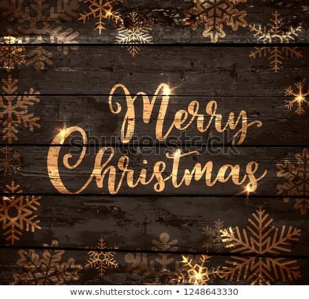 陽気な · クリスマス · 暗い · 冬 · 印刷 · カード - ストックフォト © artspace