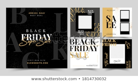 Set of Sale web banners for social media mobile apps. Black Friday sale and discount promo, vector i Stock photo © ikopylov