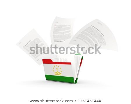 Folder with flag of tajikistan Stock photo © MikhailMishchenko