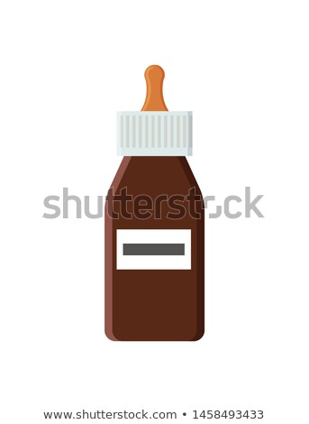 Big Bottle of Drops with Pippette for Runny Nose Stock photo © robuart
