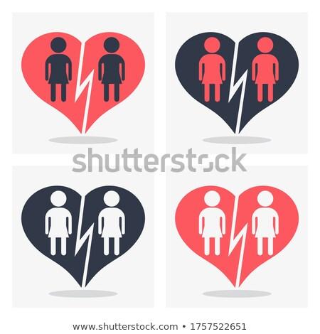 Femenino Pareja pictograma arco iris bandera gay Foto stock © dolgachov