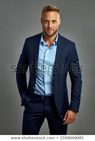 肖像 魅力的な ビジネスマン あごひげ 着用 スーツ ストックフォト © feedough
