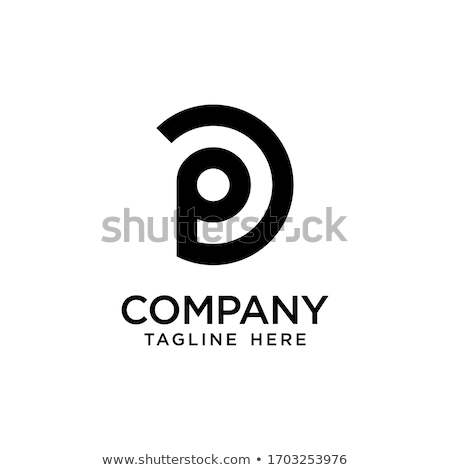 p letter black orange logotype symbol Stock photo © blaskorizov