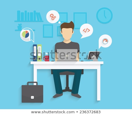 Studenten werken laptops zoeken informatie internet Stockfoto © RAStudio