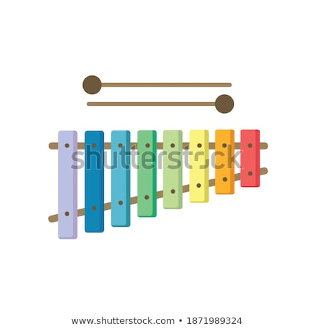 Xylophone Vector. Musical Child Instrument. Isolated Flat Cartoon Illustration Stock photo © pikepicture