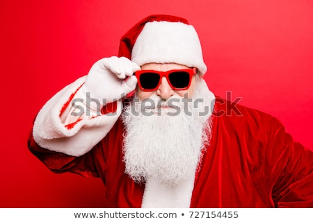 Huncut néz jóképű fiatalember vicces fekete Stock fotó © ajn