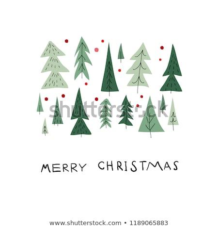 happy holidays hand written doodle merry christmas stock photo © robuart