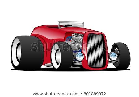 hot · rod · voiture · de · course · moteur · cartoon · cool · muscle · car - photo stock © jeff_hobrath